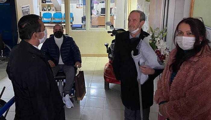 Engelli dostlara ziyaret