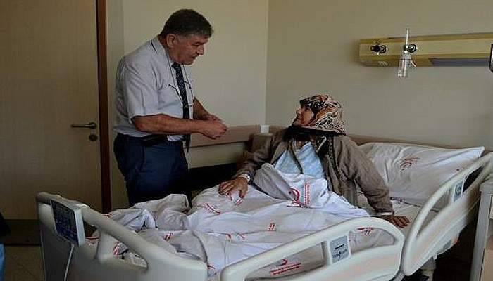 Başkan Şahin, hastalara moral verdi