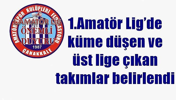 1.Amatör Lig'de küme düşen ve üst lige çıkan takımlar belirlendi