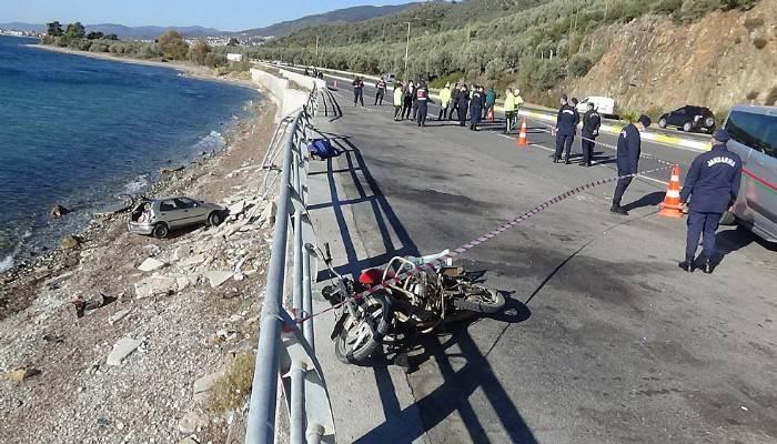 Çanakkale-Edremit istikametinde ölümlü trafik kazası (VİDEO)