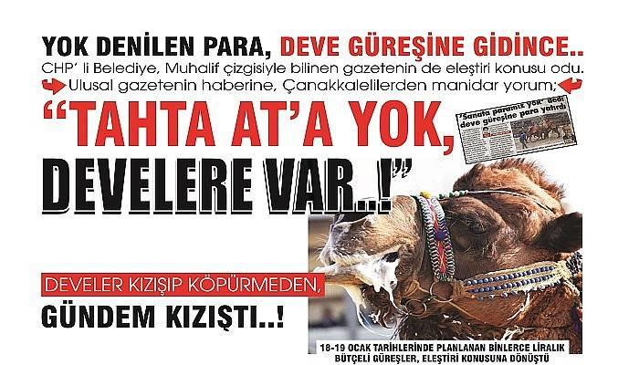 YOK DENİLEN PARA, DEVE GÜREŞİNE GİDİNCE..
