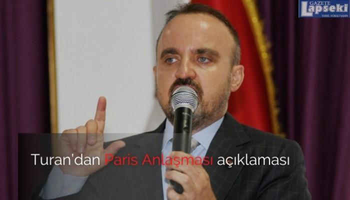 Turan'dan Paris anlaşması açıklaması