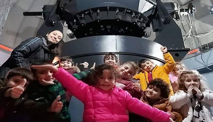 Öğrenciler ÇOMÜ Gözlemevi'ne gitti
