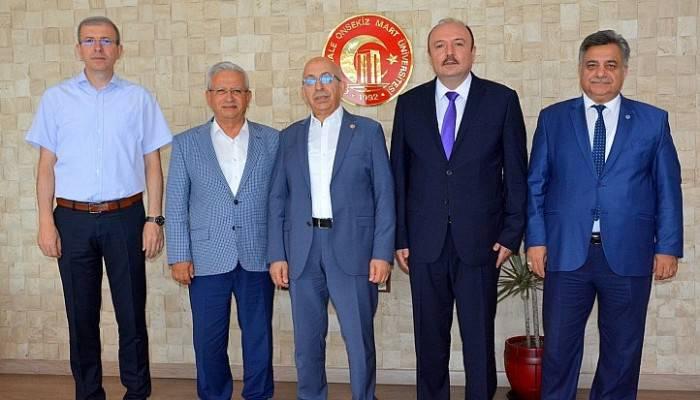 Bandırma Onyedi Eylül Üniversitesi Rektörü'nden, Rektör Prof. Dr. Sedat Murat'a Ziyaret