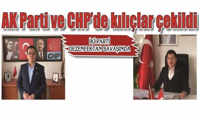 İKİ PARTİ DEZENFEKTAN SAVAŞINDA: AK Parti ve CHP'de kılıçlar çekildi