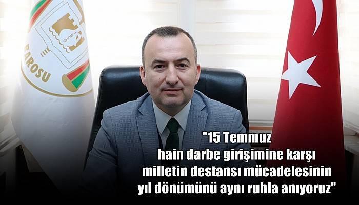 Çanakkale Baro Başkanı Şarlan'dan 15 Temmuz Mesajı