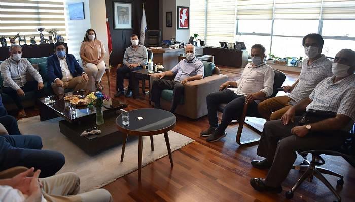 Milletvekili Erkek'ten Başkan Gökhan'a ziyaret