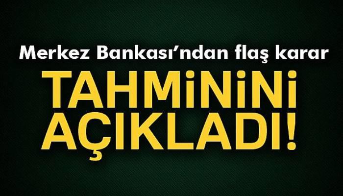 Merkez Bankası, yılsonu enflasyon tahminini yükseltti