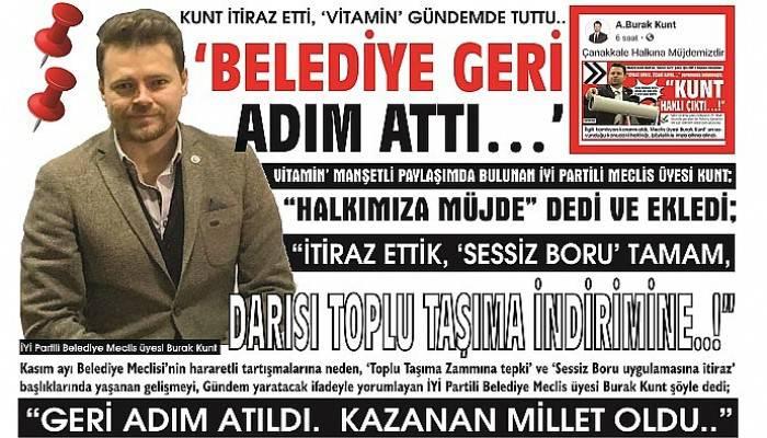 KUNT İTİRAZ ETTİ, 'VİTAMİN' GÜNDEMDE TUTTU..