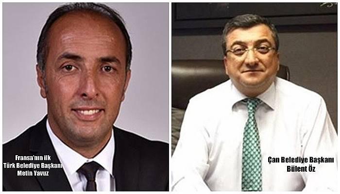 Başkan Öz'den, Fransa'nın ilk Türk belediye başkanına tebrik