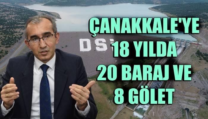 Çanakkale'ye 20 baraj 8 gölet