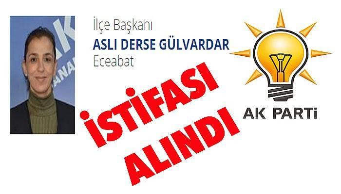 AK Parti Eceabat ilçe başkanın istifası alındı