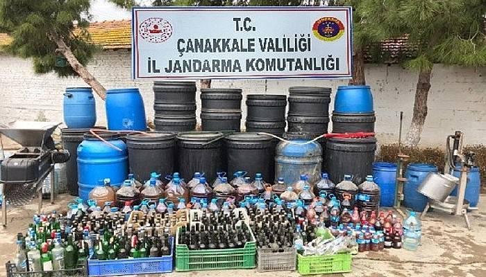 Çanakkale'de kaçak içki operasyonu: 4 gözaltı