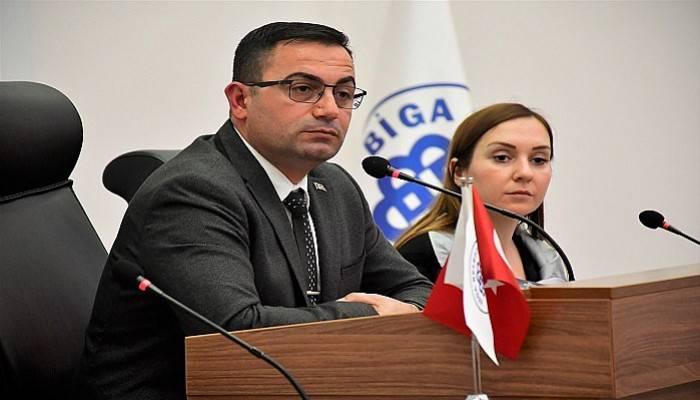Biga Belediye Meclisinde 14 gündem maddesi görüşüldü