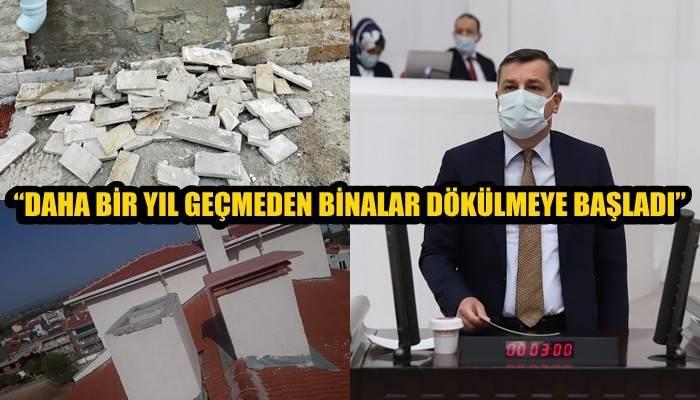 CHP Milletvekili Ceylan, Bayramiç TOKİ Konutlarındaki Sorunları Meclise Taşıdı