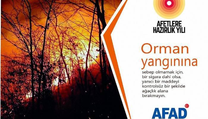 AFAD, orman yangınlarına karşı uyardı