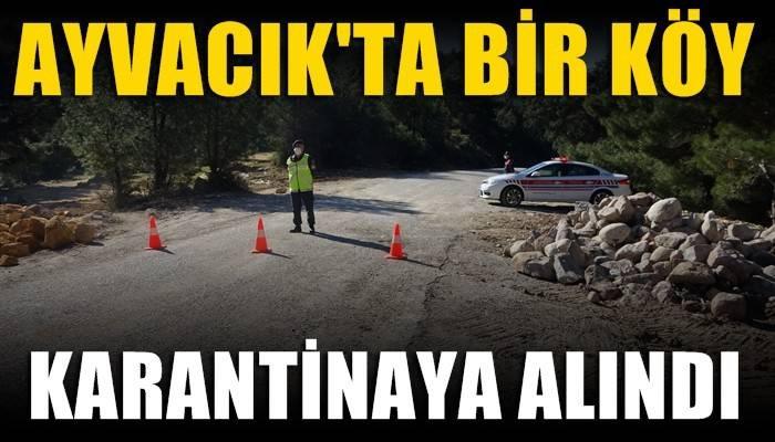 Ayvacık'ta bir köy karantinaya alındı (VİDEO)