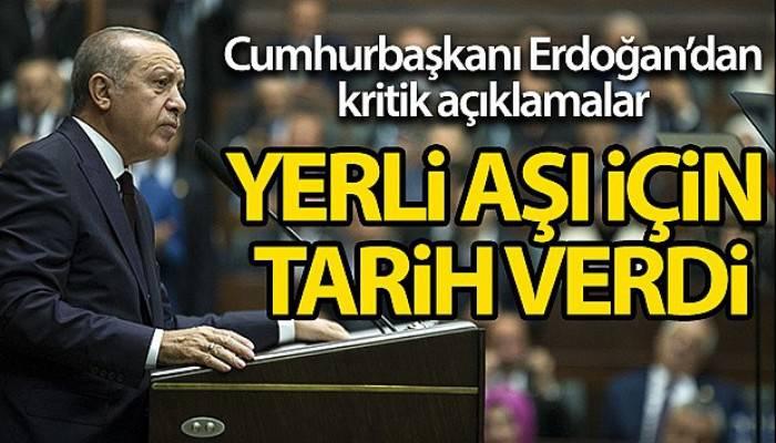 Cumhurbaşkanı Erdoğan: 'Kendi aşımızı en geç Nisan ayında uygulamayı planlıyoruz'