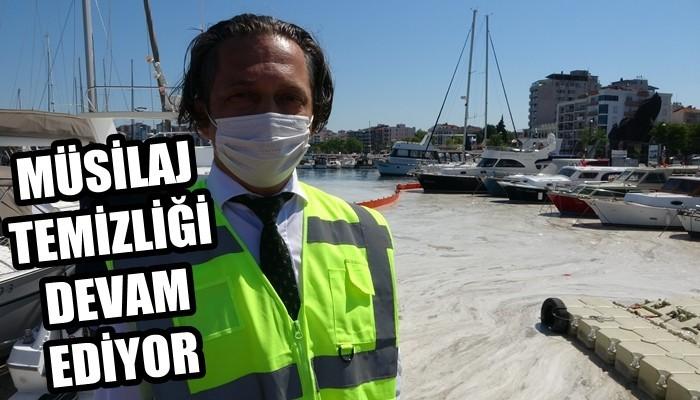 Çanakkale Boğazı'nda müsilaj temizliği 3'üncü gününde devam ediyor (VİDEO)