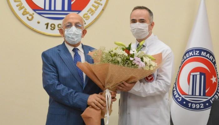 ÇOMÜ Hastanede Devir Teslim Töreni Gerçekleşti