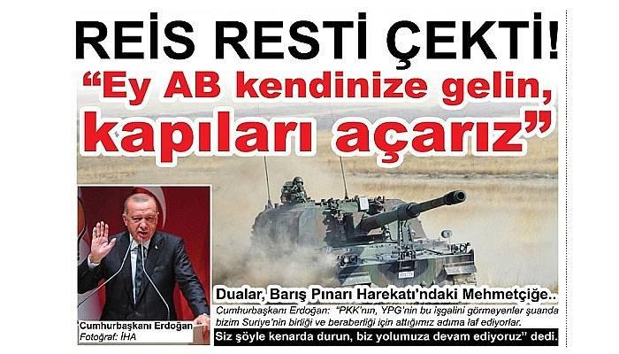 REİS RESTİ ÇEKTİ…!