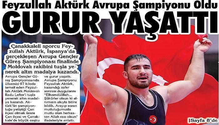 Feyzullah Aktürk Avrupa Şampiyonu Oldu