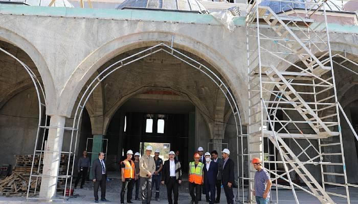 ÇOMÜ, 18 Mart İÇDAŞ Ulu Camii'nde Çalışmalar Tüm Hızıyla Devam Ediyor