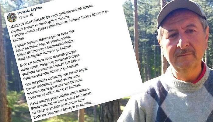 Muhtardan korona şiiri