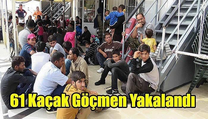 Çanakkale'de 61 Kaçak Göçmen Yakalandı
