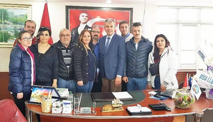 Gazetecilerden Başkan Elbi'ye Hayırlı Olsun Ziyareti