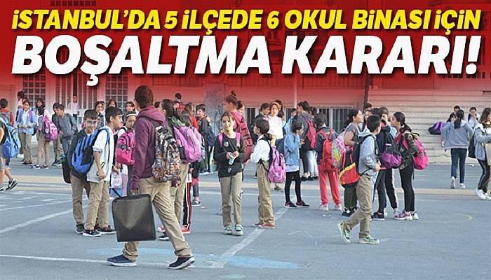 Deprem sonrası 5 ilçede 6 okul daha boşaltılacak