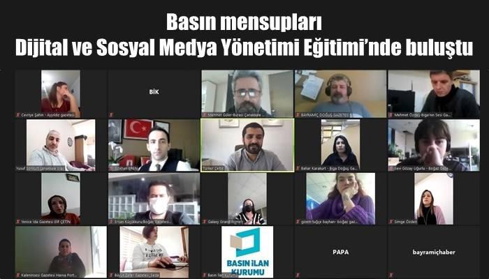 Basın mensupları Dijital ve Sosyal Medya Yönetimi Eğitimi'nde buluştu