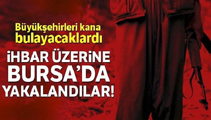 Bursa'da eylem hazırlığındaki 2 terörist 5,5 kilogram patlayıcı ile yakalandı