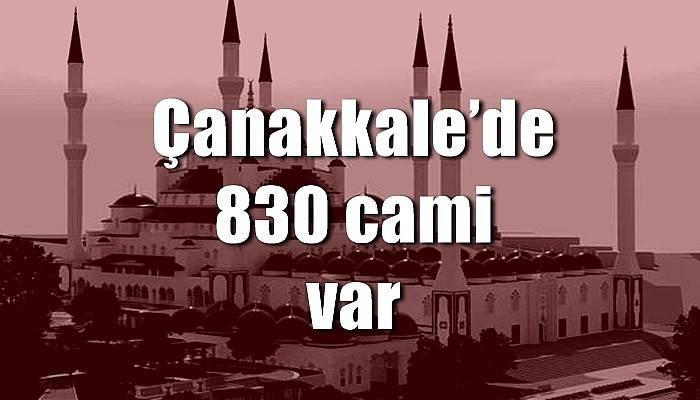 Çanakkale'de 830 cami var
