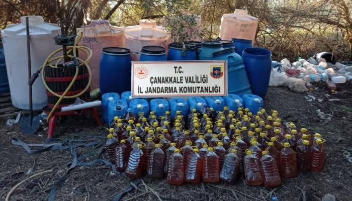 Çanakkale'de 1510 litre kaçak şarap ele geçirildi