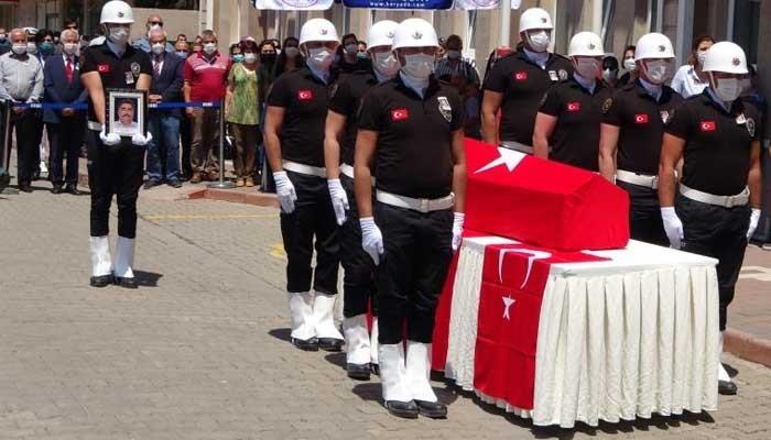 Şehit polis Türkmenoğlu törenle uğurlandı (VİDEO)