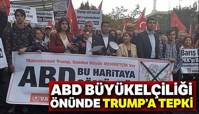 ABD Büyükelçiliği önünde Trump'a tepki eylemi