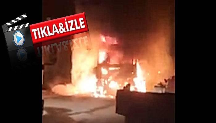 Çanakkale'de TIR yangını! (VİDEO)