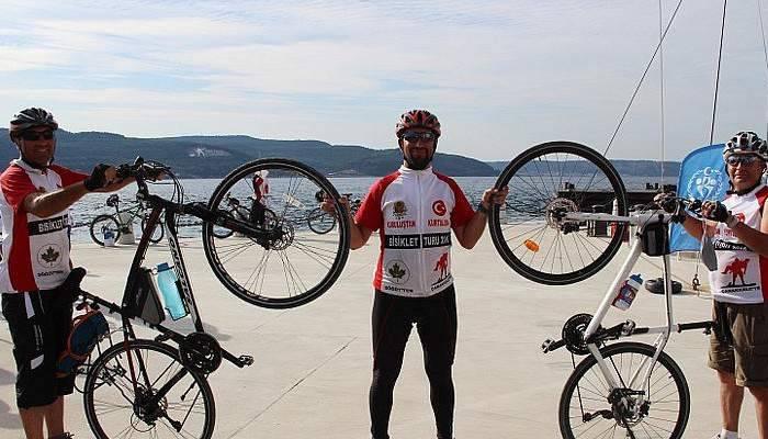 120 bisikletçi, 510 kilometre yol kat etti