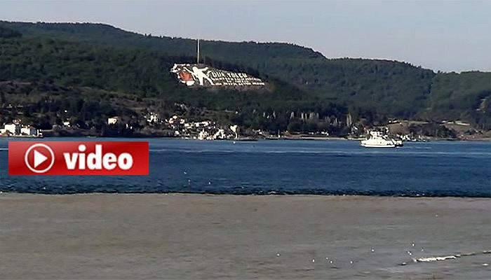 Çanakkale Boğazı'nın rengi değişti (VİDEO)