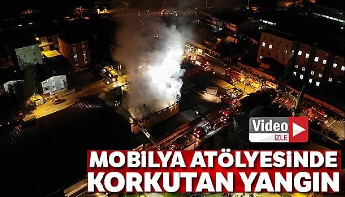 İstanbul Sultanbeyli'de mobilya atölyesinde yangın