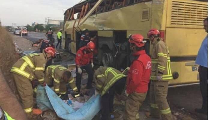 Adana'dan Çanakkale'ye Gelen Otobüs Bandırma'da Kaza Yaptı : 4 Ölü 42 Yaralı
