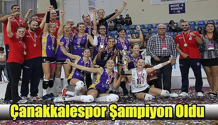 Çanakkalespor Şampiyon Oldu