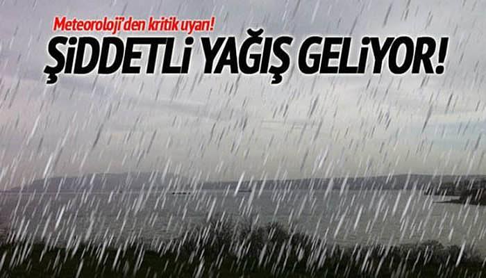 Çanakkale için kuvvetli yağış uyarısı!!!
