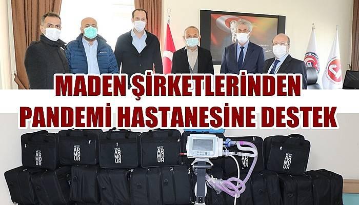 Maden şirketlerinden pandemi hastanesine destek (VİDEO)
