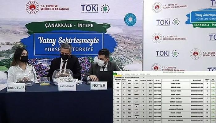 TOKİ İntepe'de kura heyecanı