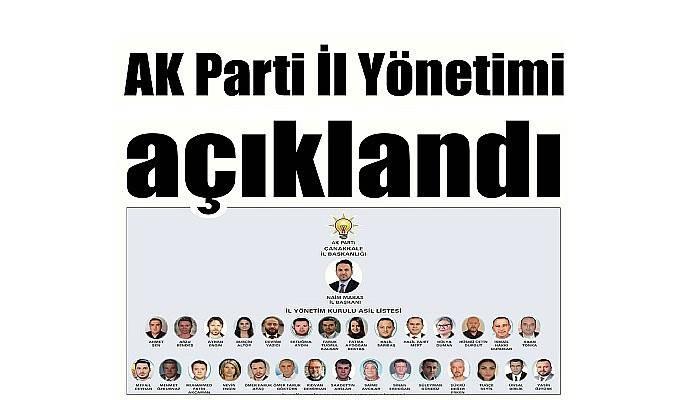 AK Parti İl Yönetimi açıklandı