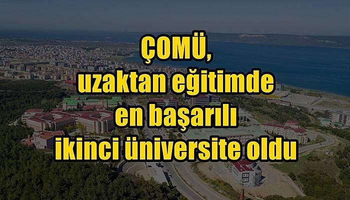 ÇOMÜ, uzaktan eğitimde en başarılı ikinci üniversite oldu