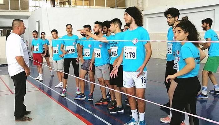 ÇOMÜ Spor Bilimleri yetenek sınavlarına yoğun katılım