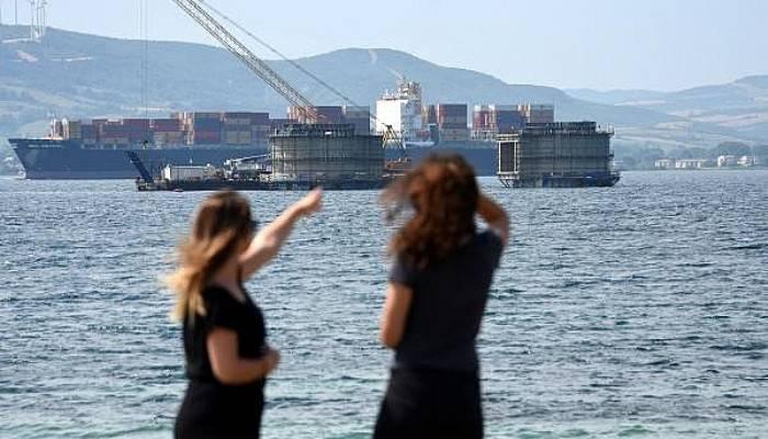 Çanakkale Köprüsü yükseliyor, Lapseki'ye talep artıyor (VİDEO)
